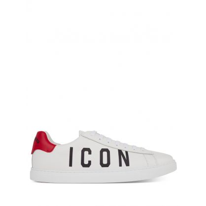White Low-Top ICON Tennis Trainers