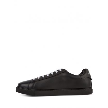Black Low-Top D2 Tennis Trainers