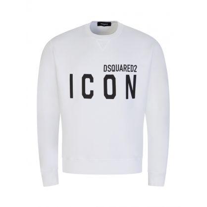 White DSQ2 ICON Sweatshirt