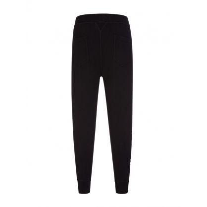 Black ICON Logo Slim Fit Sweatpants