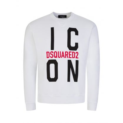 White Block Logo ICON Sweatshirt