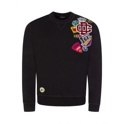 Black Icon Patch Sweatshirt