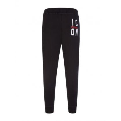 Black ICON Logo Sweatpants