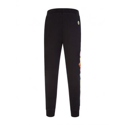 Black ICON Patch Sweatpants