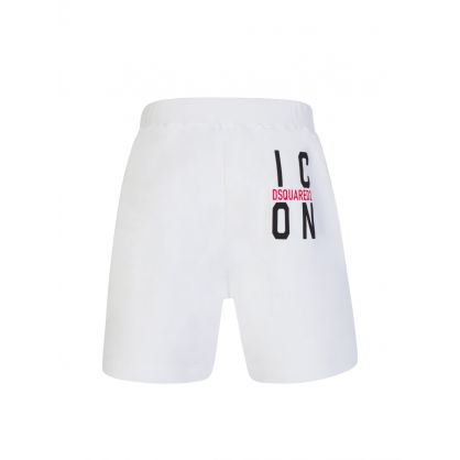 White ICON Fleece Shorts