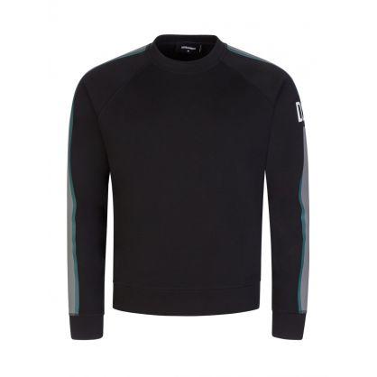 Black DSQ2 Side Line Sweatshirt