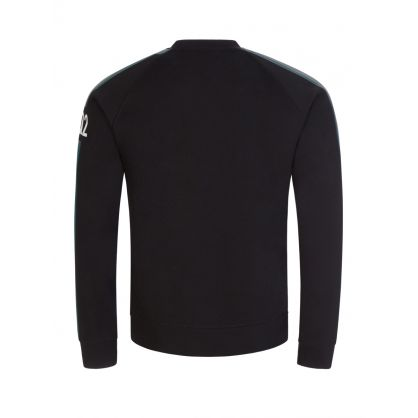 Black DSQ2 Side Line Sweatshirt