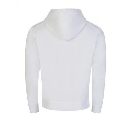 White Reversed Logo Popover Hoodie