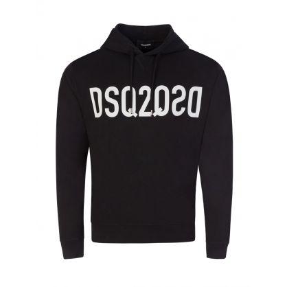 Black DSQ2 Mirrored Logo Hoodie