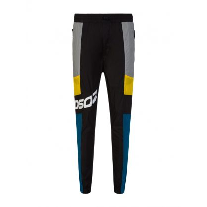 Black Nylon DSQ2 Jog Brad Trousers
