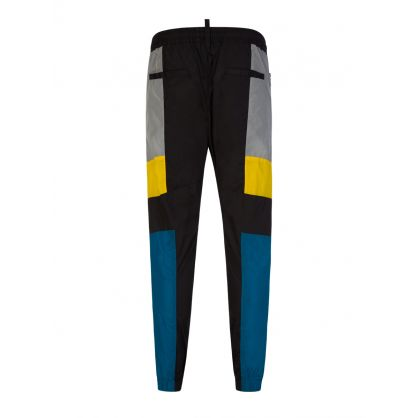 Black Nylon DSQ2 Jog Brad Trousers
