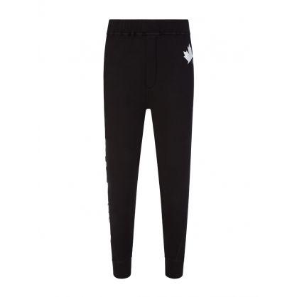 Black D2 Leaf Active Logo Sweatpants
