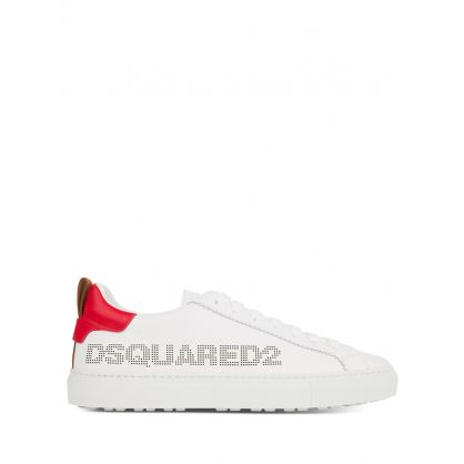 White/Red San Diego Low-Top Trainers