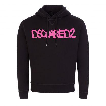 Black/Pink D2 Fluo Hoodie