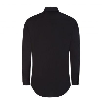 Black Relaxed-Fit Customs-Print Dan Shirt