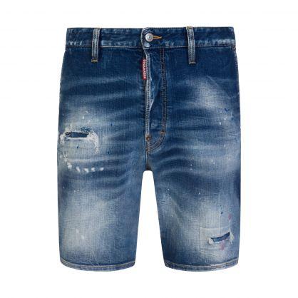 Blue Graffiti -T Marine Denim Shorts