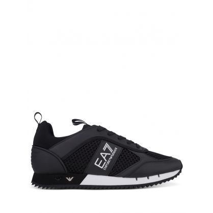 Black/White Mesh Runner Trainers