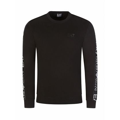 Black Logo Tape Sweatshirt