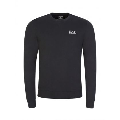 Navy Small Logo Crew Neck Sweatshirt