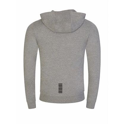 Emporio Armani EA7 Grey Logo Zip-Through Hoodie