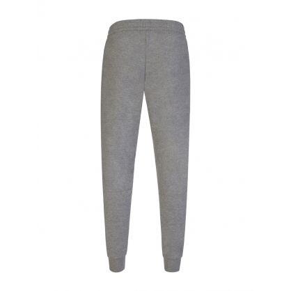 Grey High Shine Logo Sweatpants