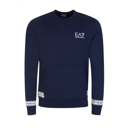 Navy Blue Logo Sweatshirt