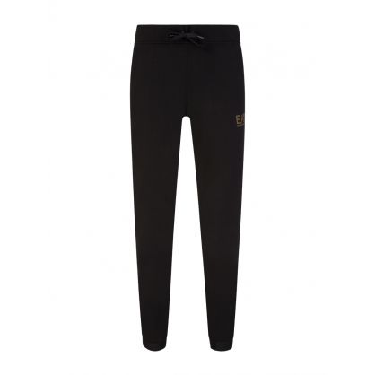 Black Foil Logo Sweatpants