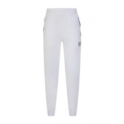 White Logo Tape Casual Sweatpants