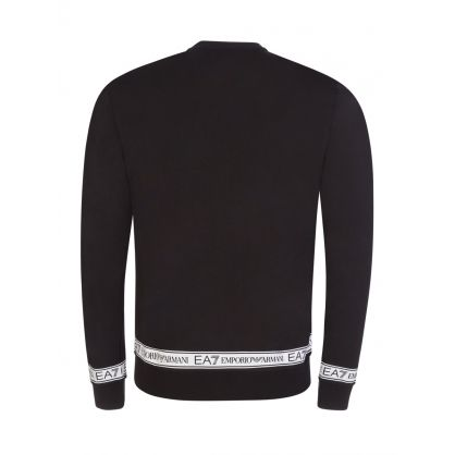 Black Taped Logo Sweatshirt