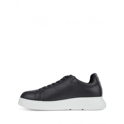 Black Back Logo Trainers