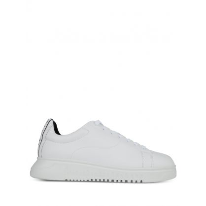 White Back Tape Logo Trainers
