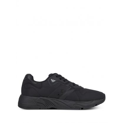 All Black Runner Trainers