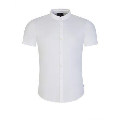 White Button Jersey Shirt