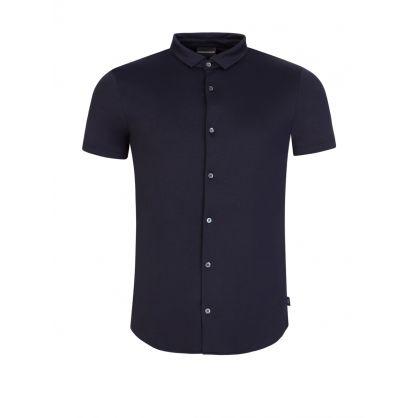 Navy Jersey Cotton Shirt