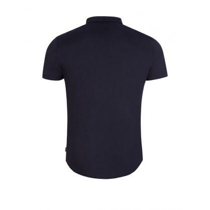 Navy Short-Sleeve Jersey Shirt
