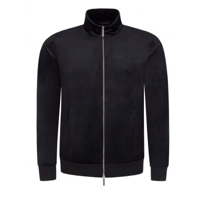 Black Velvet Zip-Through Track Jacket