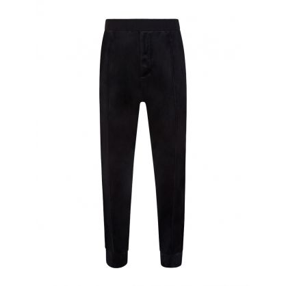 Black Velvet Cuff Sweatpants
