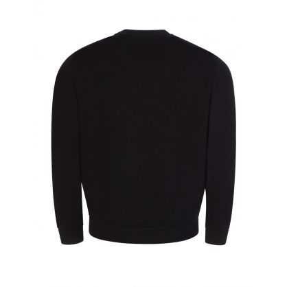Black Micro-Studded Black Sweatshirt