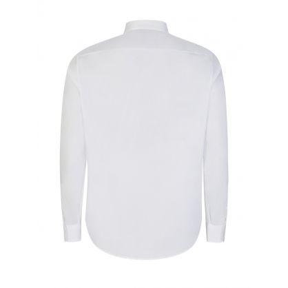 White Cotton Satin Shirt