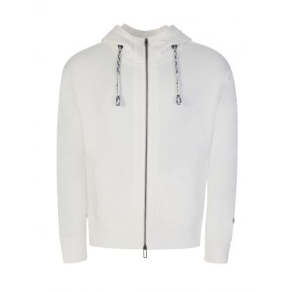 Warm White Hooded Zip Through