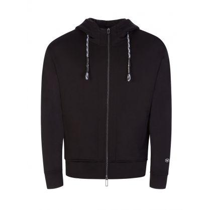 Black Hooded Zip Through