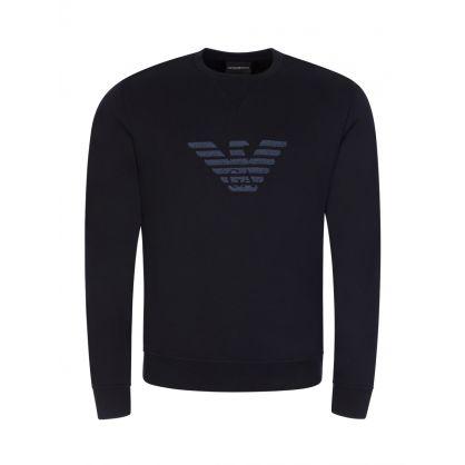 Navy Embroidered Logo Sweatshirt