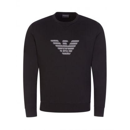 Black Embroidered Eagle Sweatshirt