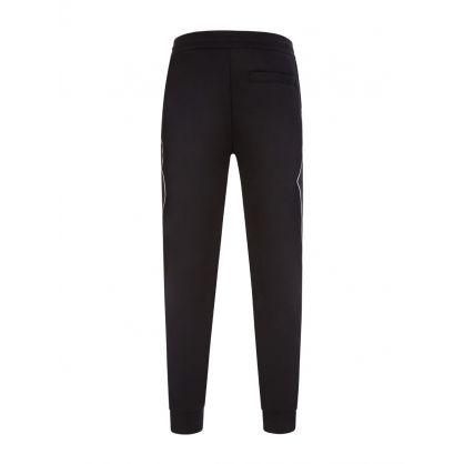 Black Jacquard Logo Sweatpants