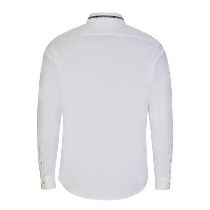 White Logo Collared Shirt