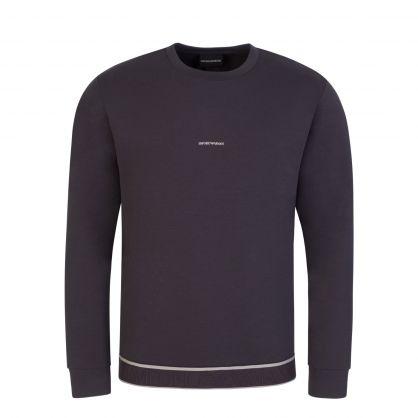 Grey Jacquard Logo Sweatshirt