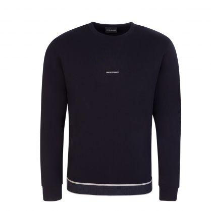 Navy Jacquard Logo Sweatshirt
