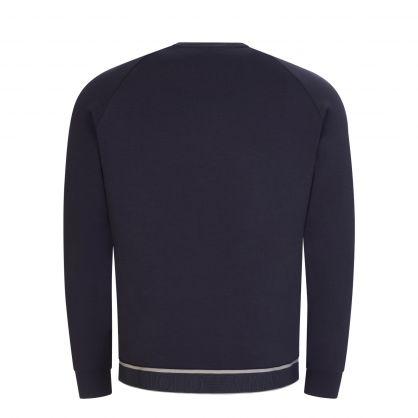 Grey Jacquard Logo Embossed Sweatshirt