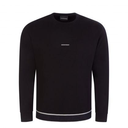 Black Jacquard Logo Sweatshirt
