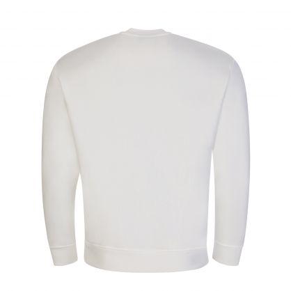 White 3D Embroidered Eagle Logo Sweatshirt